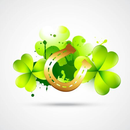 leafed: st patricks day design illustration Illustration