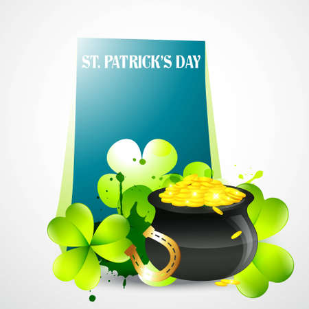 saint patrick's day illustration with space for your text Stock Vector - 12497526