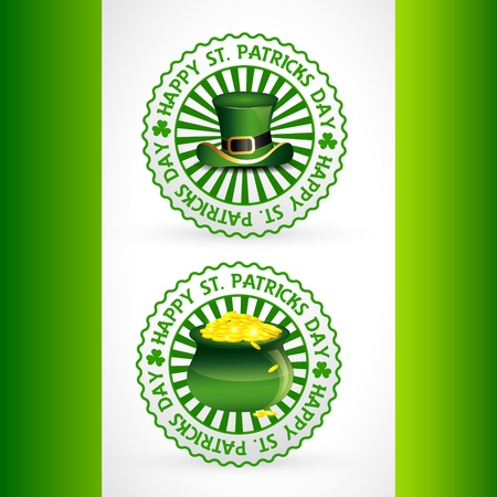 st patricks day label sticker design Vector