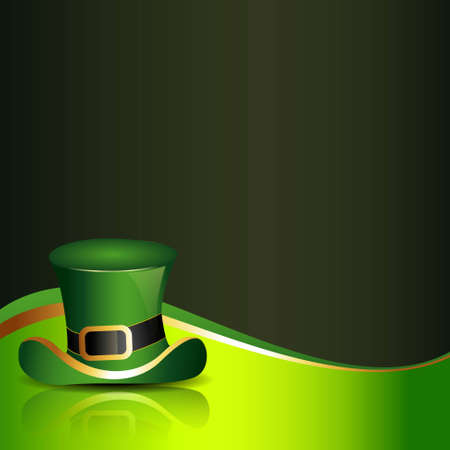 st. patricks day hat with clover on background Vector