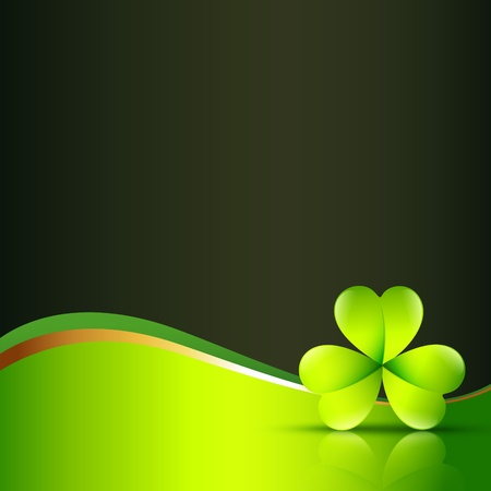 st patrick s day: clover leaf with space for your text Illustration