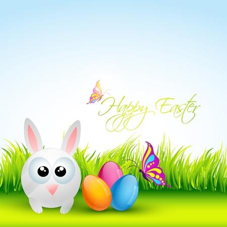 cute easter rabbit design Vector