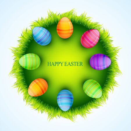 stylish colorful easter illustration with space for your text Vector