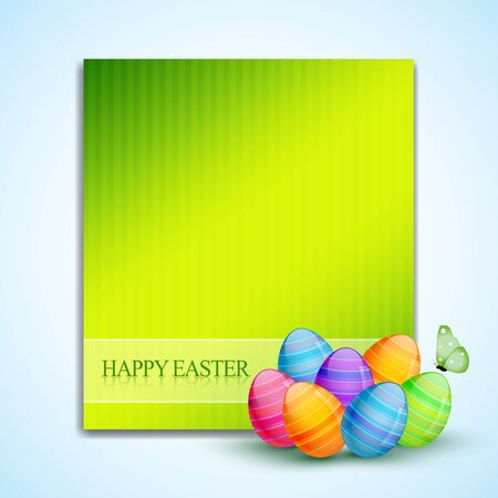colorful easter eggs with space for your text Vector