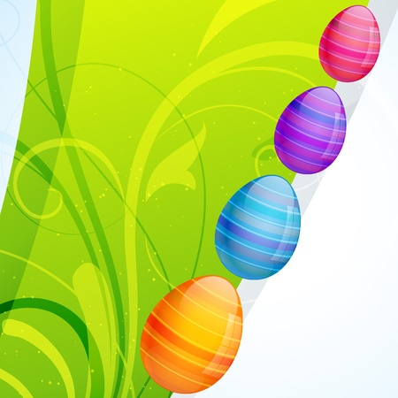 colorful easter egg with space for your text Vector
