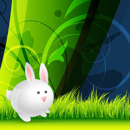 cute rabbit on colorful background Vector