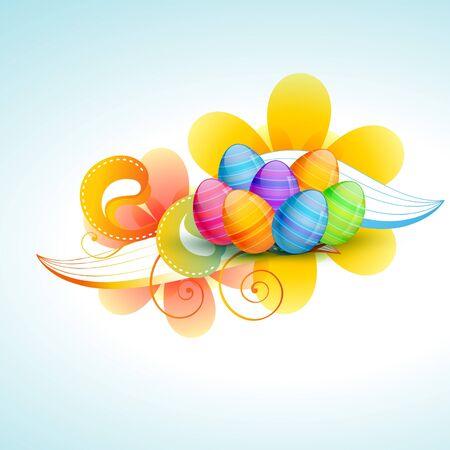 colorful easter egg illustration Vector