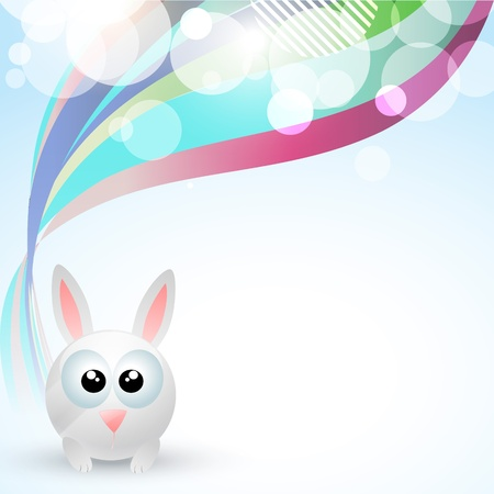 cute rabbit with space for your text Vector