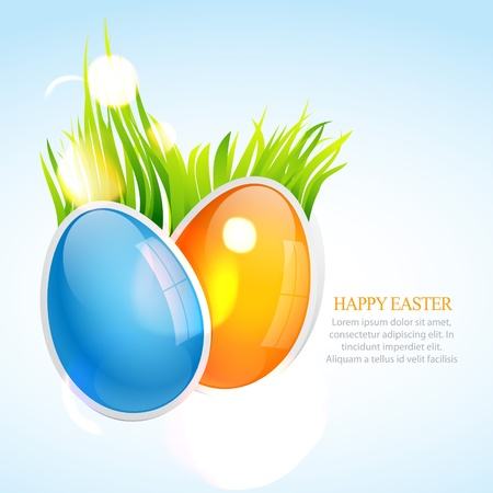 colorful easter eggs design Vector