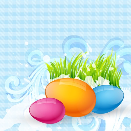 colorful cute easter design Vector