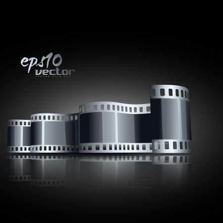 carrete de película en 3D realistas