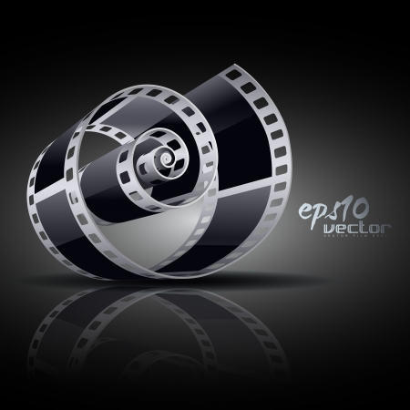 filmstrips: realistic 3d film reel Illustration