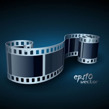 hollywood film: realistic 3d film reel Illustration