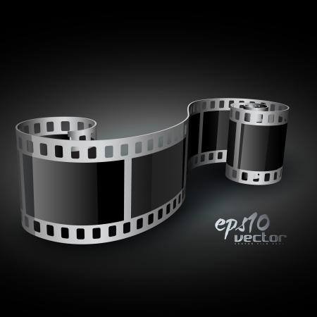 rollo pelicula: carrete de película en 3D realistas