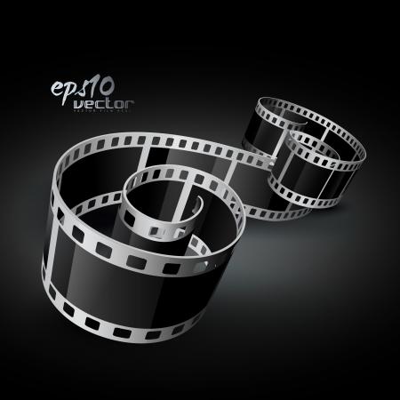 кинематография: реалистично 3d рулона пленки