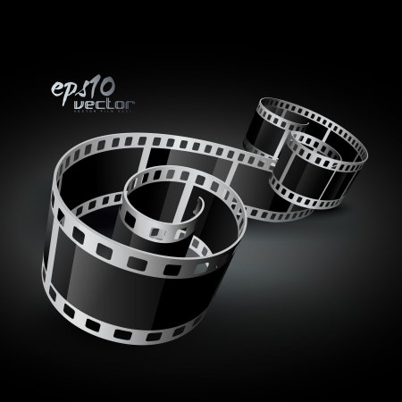 film strip: realistic 3d film reel Illustration