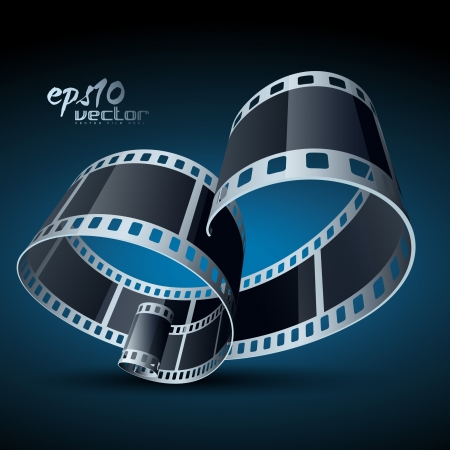 3d film: realistic 3d film reel Illustration