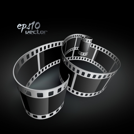 movie film reel: realistic 3d film reel Illustration