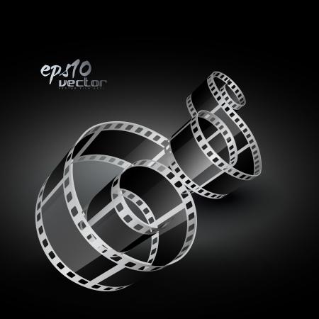film tape: realistic 3d film reel Illustration