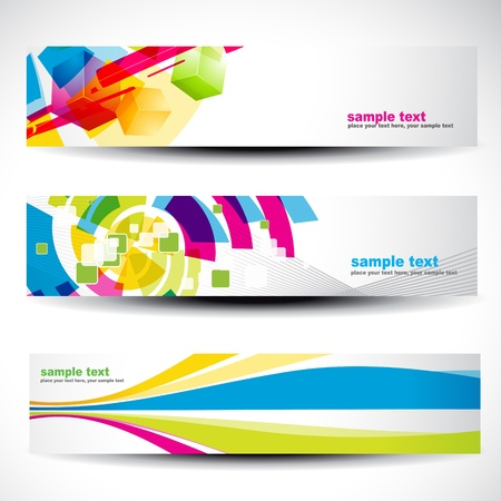 website header: abstract header set 4 Illustration