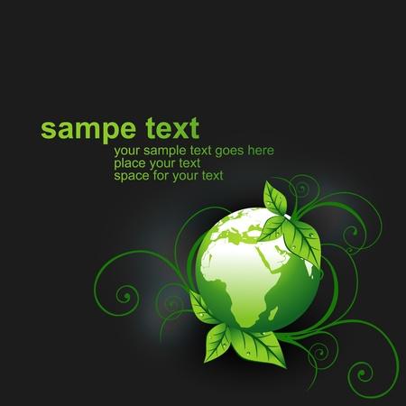 safe world: green vector earth design illustration