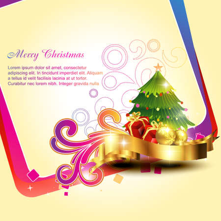 beautiful artistic christmas bakground design illustration Vector