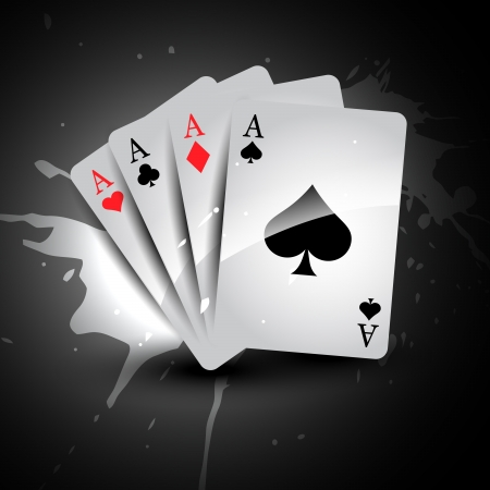 vector de casio de cartas de juego juego de cuatro