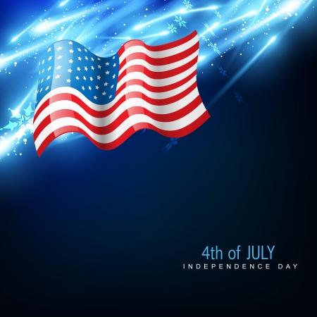 united states flag: amercian independence day flag Illustration