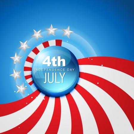 04 de julio día de la independencia americana Vectores
