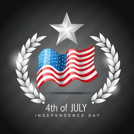 democratic: vector 4th of july independence day design art Illustration