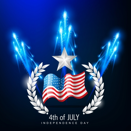 american independence day 4th of july Stock Vector - 14231612