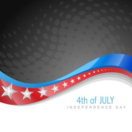 네번째: 멋진 일 미국의 독립 기념일 웨이브 예술 일러스트