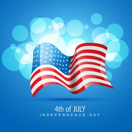 stylish american independence day design Stock Vector - 14231817