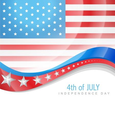 juli: 04 juli Amerikaanse onafhankelijkheidsdag Stock Illustratie