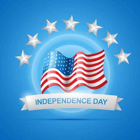 amercian independence day flag Stock Vector - 14232091