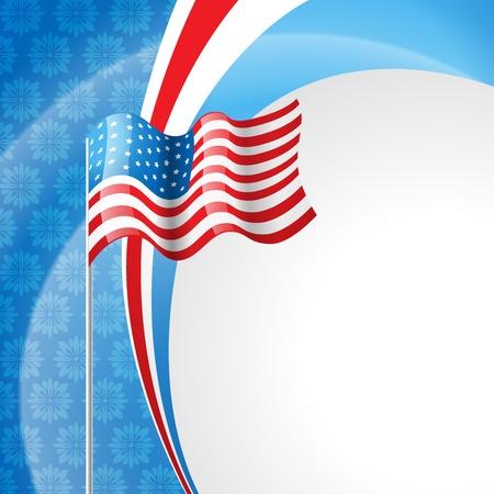 creative freedom: stylish american independence day design Illustration
