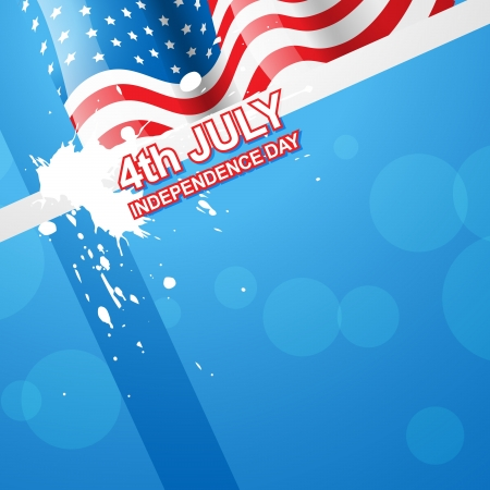 stylish american independence day design Stock Vector - 14231635