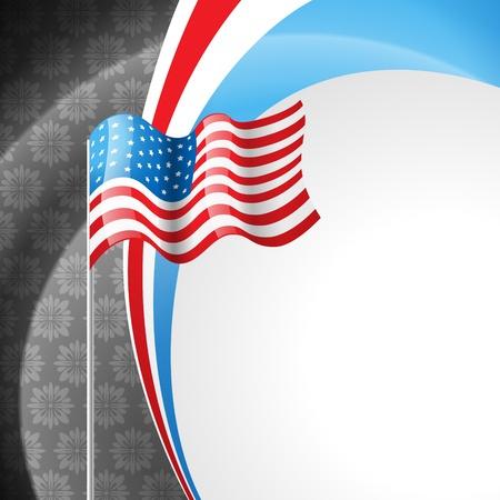 american flag design illustration Stock Vector - 14231634