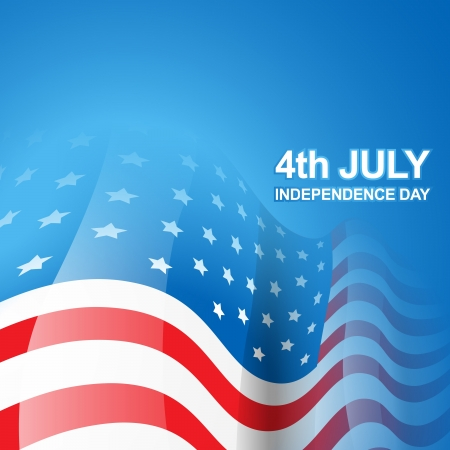 beautiful american independence day flag Illustration