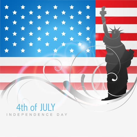4th july american independence day  Stock Vector - 14231973
