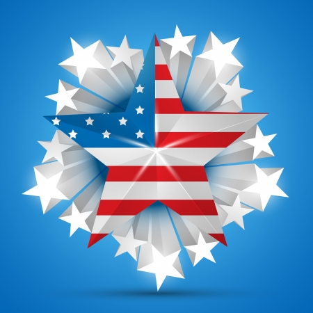 amercian independence day flag  Vector