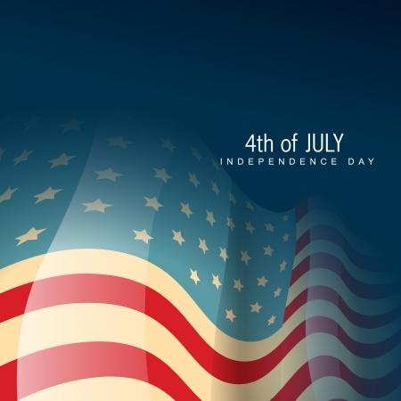 네번째: 빈티지 스타일의 미국 국기