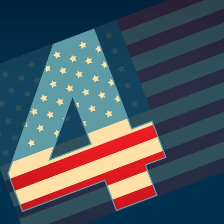 4th of july independence day design art Vector