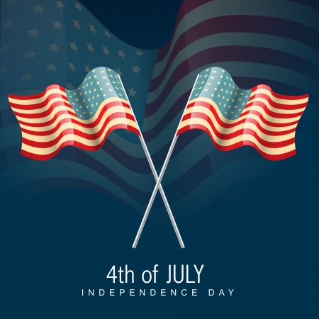 american flag design illustration Vector