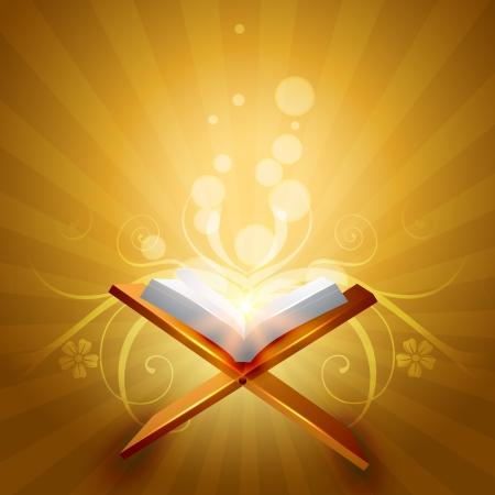 allah: religi�se Buch quraan Vektor-Illustration