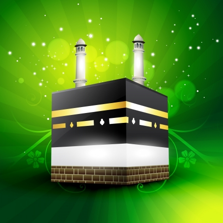kuran: beautiful qaaba sharif vector illustration