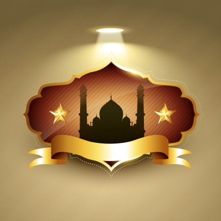 vector beautiful ramadhan kareem label Illustration
