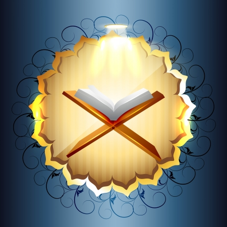religious book of quraan vector illustration Vector