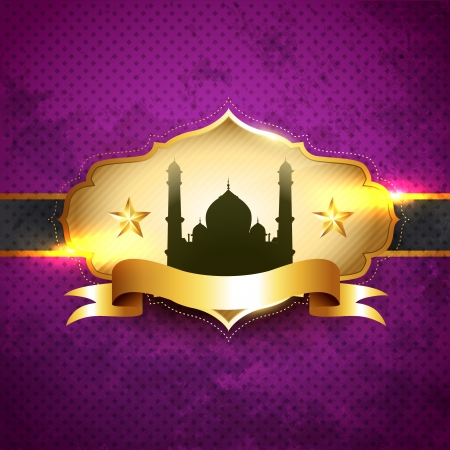 beautiful ramadhan kareem vector illustration label Stock Vector - 14470436