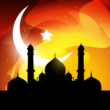 stylish glowing ramadan kareem vector illustration Stock Vector - 14470435